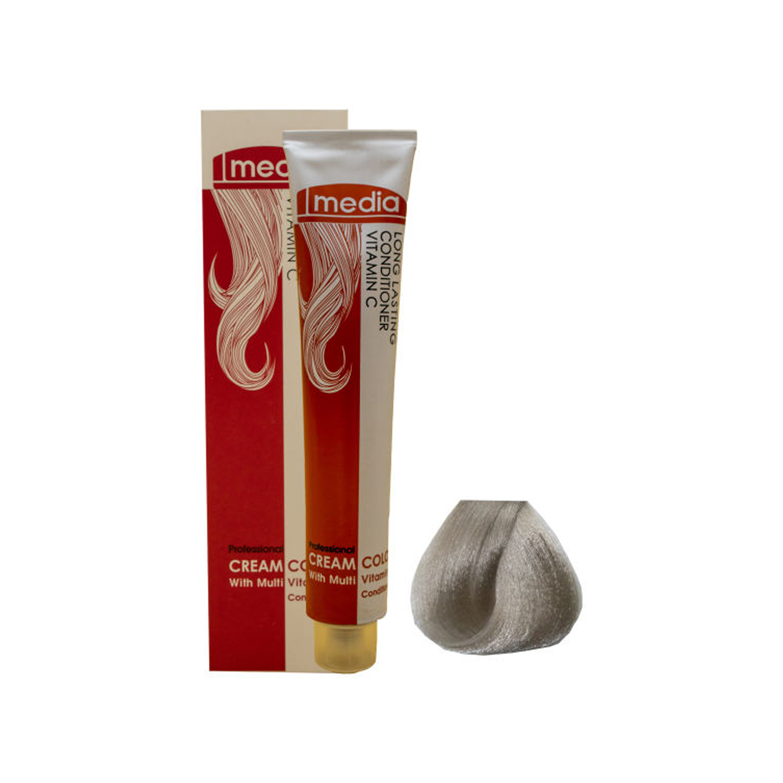 رنگ مو مدیا سری خاکستری شماره 1.(1/2)9 حجم 100 میلی لیتر