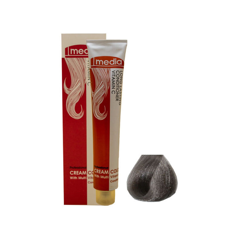 رنگ مو مدیا سری خاکستری شماره 7.1 حجم 100 میلی لیتر