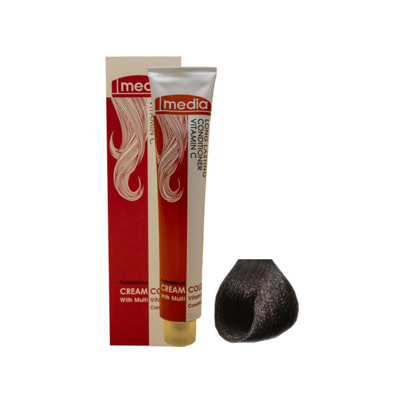 رنگ مو مدیا سری خاکستری شماره 5.1 حجم 100 میلی لیتر