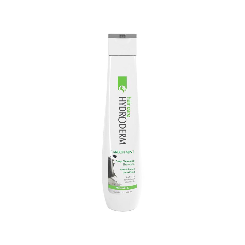 شامپو پاک کننده قوی مو هیدرودرم مدل Carbon Mint حجم 400 میلی لیتر