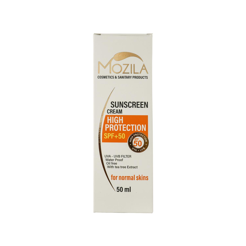 کرم ضد آفتاب موزیلا SPF 50 مناسب پوست های نرمال حجم 50 میلی لیتر