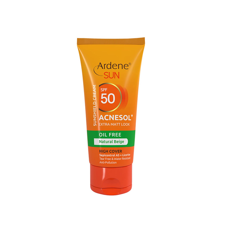 کرم ضد آفتاب آردن مدل Acnesol SPF50 وزن 50 گرم - بژ طبیعی