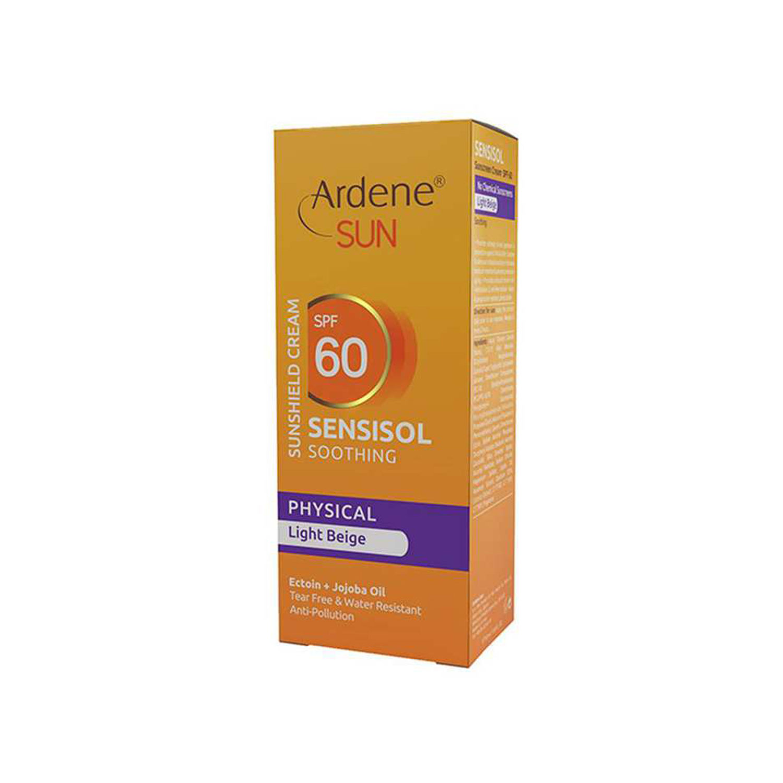 کرم ضد آفتاب آردن مدل Sensisol SPF 60 مناسب پوست حساس حجم 50 میلی لیتر - بژ روشن