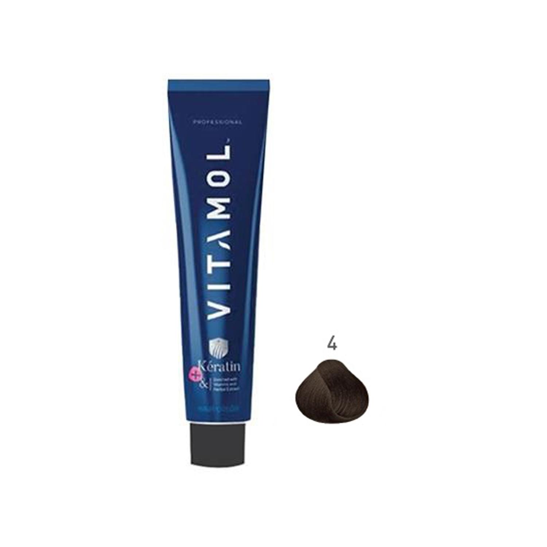 رنگ مو ویتامول سری طبیعی شماره 4 حجم 120 میلی لیتر