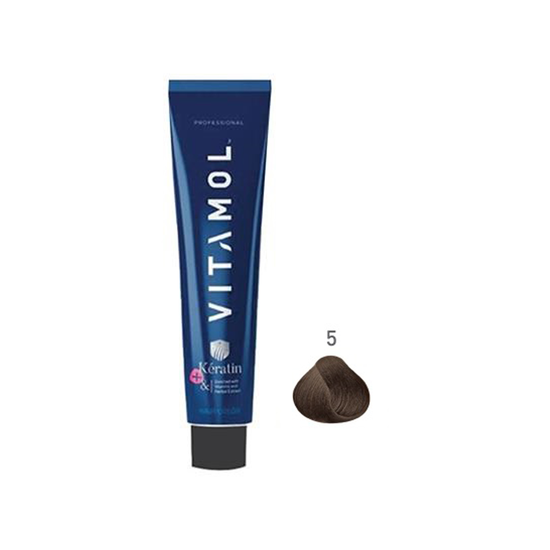 رنگ مو ویتامول سری طبیعی شماره 5 حجم 120 میلی لیتر