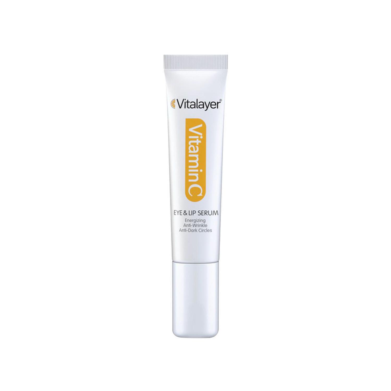 سرم دور چشم و لب ویتالیر مدل Vitamin C حجم 15 میلی لیتر