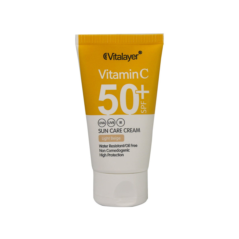 کرم ضد آفتاب ویتالیر مدل ویتامین C حجم 40 میلی لیتر - بژ روشن