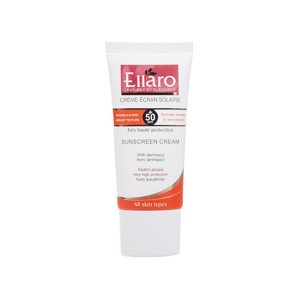 کرم ضد آفتاب الارو مدل All Skin Types SPF50 حجم 50 میلی لیتر - بی رنگ