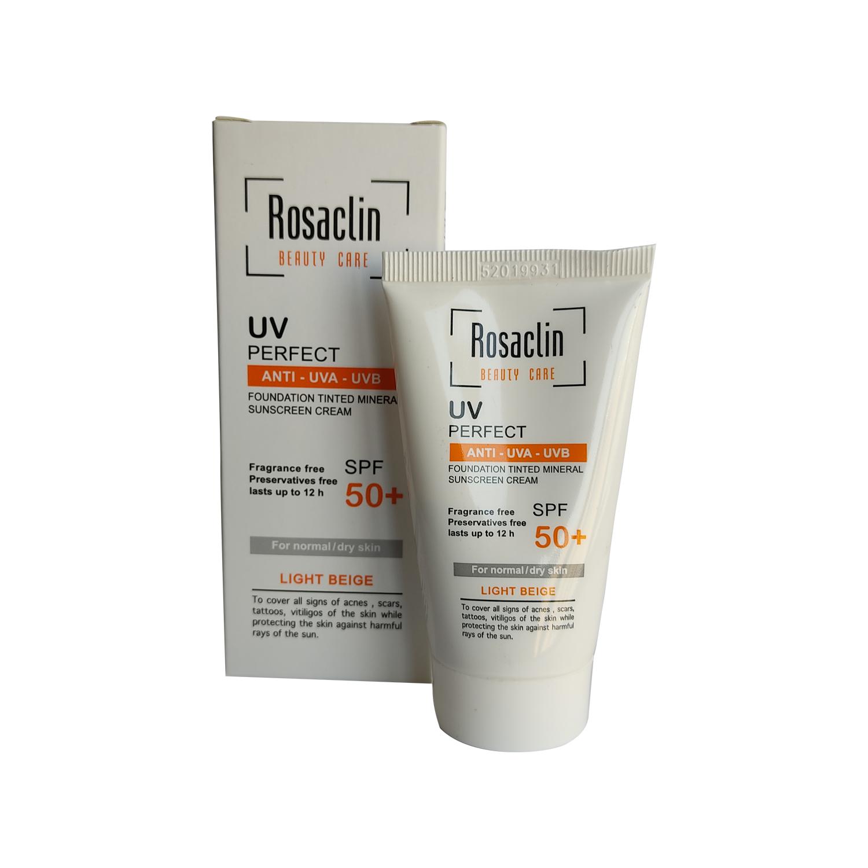 کرم ضد آفتاب رزاکلین مدل Normal & Dry Skin SPF50 حجم 40 میلی لیتر - بژ روشن