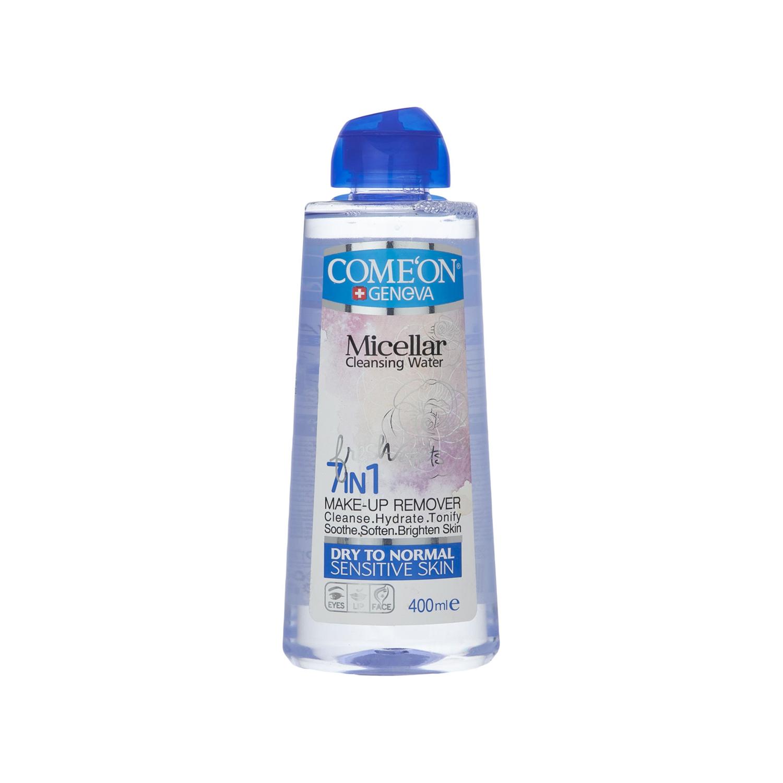محلول پاک کننده آرایش صورت کامان مدل 7In1 - Dry & Normal Skin حجم 400 میلی لیتر