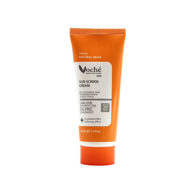 کرم ضد آفتاب وچه مدل Dry To Normal Skin SPF50 حجم 40 میلی لیتر - بژ طبیعی