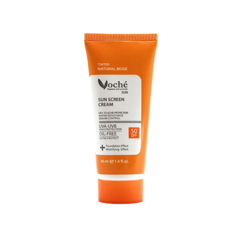 کرم ضد آفتاب وچه مدل Oily To Acne Prone Skin SPF50 حجم 40 میلی لیتر - بژ طبیعی