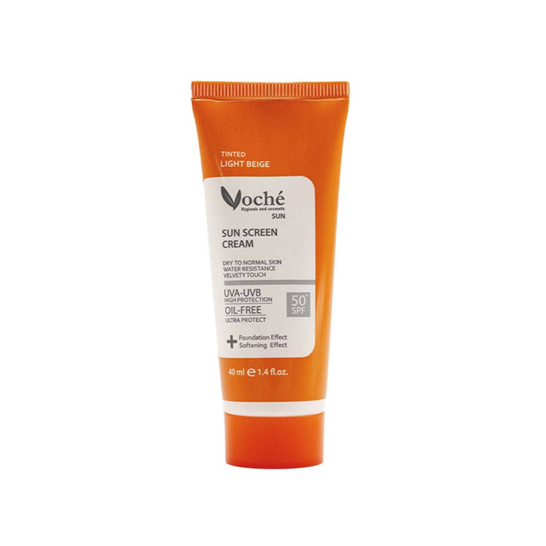 کرم ضد آفتاب وچه مدل Dry To Normal Skin SPF50 حجم 40 میلی لیتر - بژ روشن