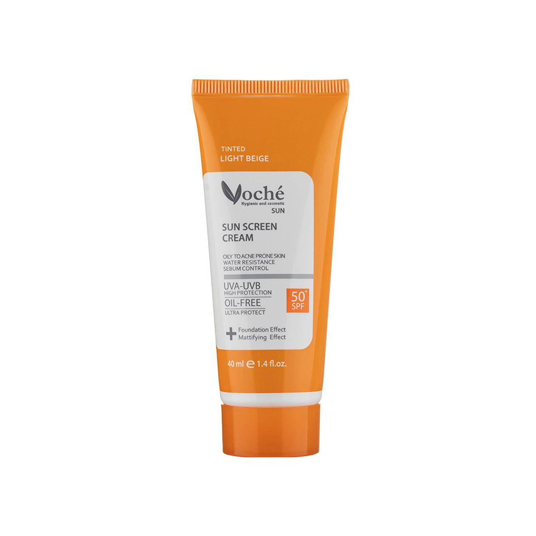 کرم ضد آفتاب وچه مدل Oily To Acne Prone Skin SPF50 حجم 40 میلی لیتر - بژ روشن